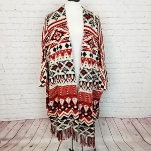 H&M Divided|Southwestern Aztec Long Shrug
